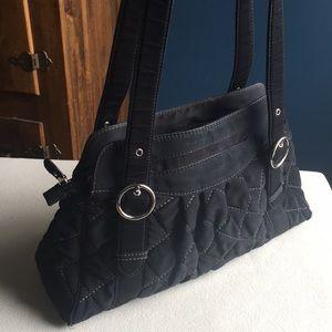 Vera Bradley black quilted bag / purse